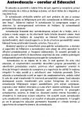 Imagine document Autoeducatia