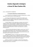 Imagine document Analiza diagnostic strategica a firmei SC New Fashion SRL