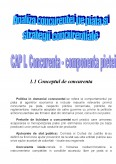 Analiza Concurentei pe Piata si Strategii Concurentiale