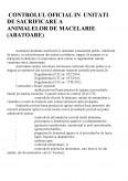 Controlul Oficial in Unitati de Sacrificare a Animalelor de Macelarie