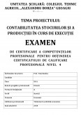 Imagine document Contabilitatea stocurilor si a productiei in curs de executie