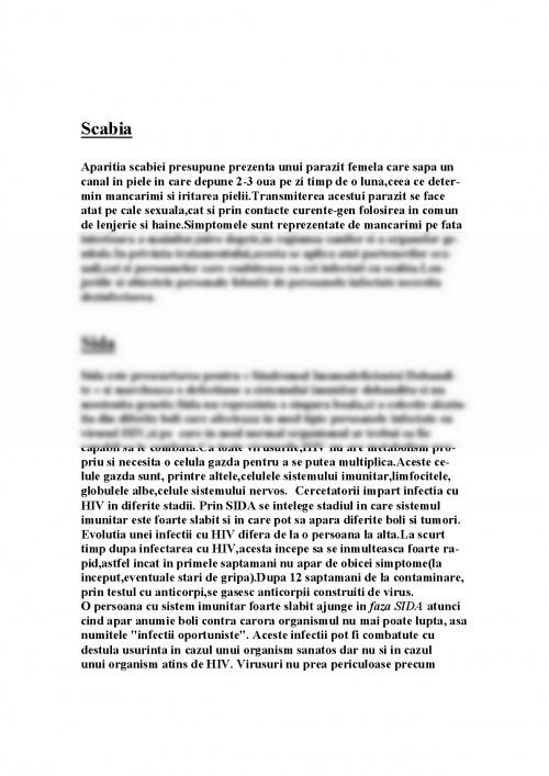Referat biologie despre bolile cu transmitere sexuala