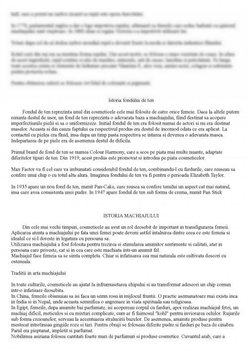 Referat Istoria Machiajului 378957 Graduo