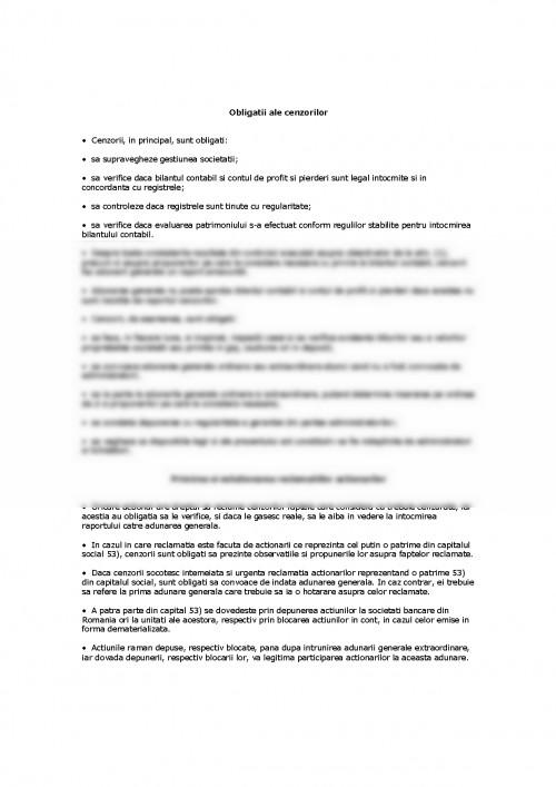 Referat: Act Constitutiv de Societate pe Actiuni al