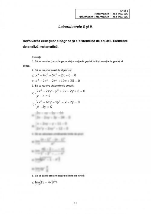 Curs: Software Matematic Curs si Laborator (#427613) - Graduo